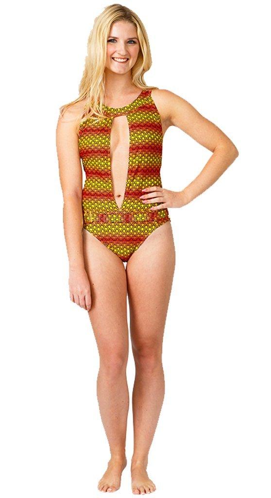 Geometric Print Stunning Swimsuit