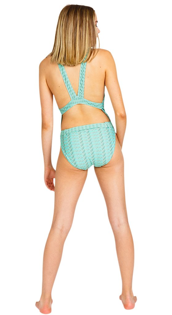 Stunning Mint Swimsuit Back view